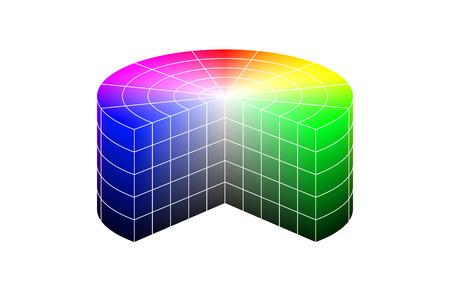 Modelo 3D de la rueda de color. Vector Foto de archivo - 76135999