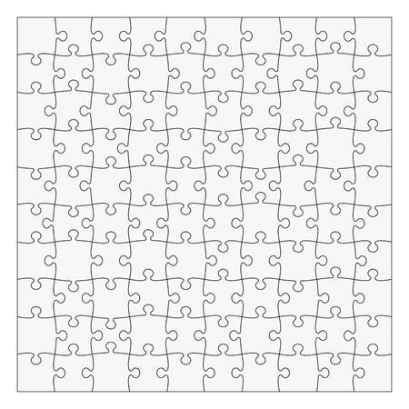 Puzzelmal 10x10 stukjes. Gemakkelijk om afzonderlijke stukken te verwijderen Stock Illustratie