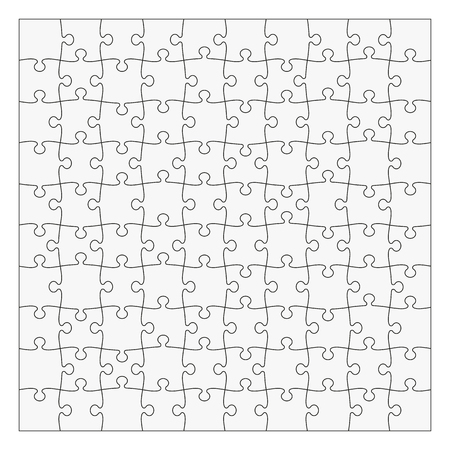 Puzzle template 10x10 pieces. Easy to remove separate pieces