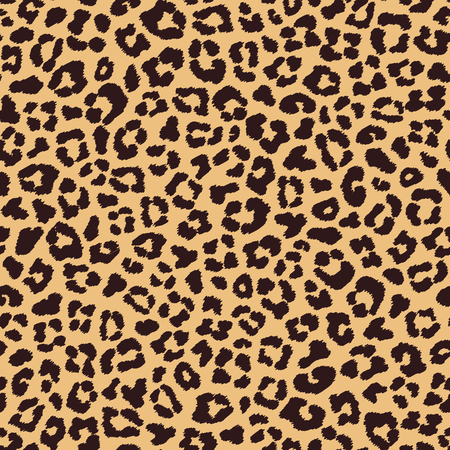 Leopard seamless pattern, beige brown color Ilustracja