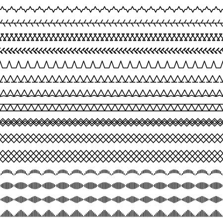 Modèle sans couture de points de machine à coudre, partie 2 Banque d'images - 78418734