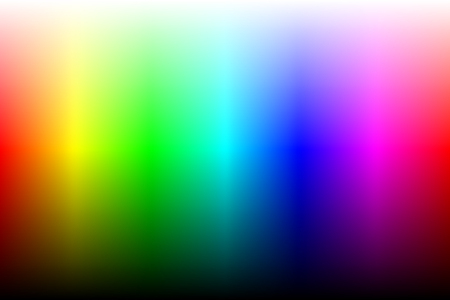 Color spectrum with brightness. Two variation, gradient or gradient mesh. Vector Stock Photo
