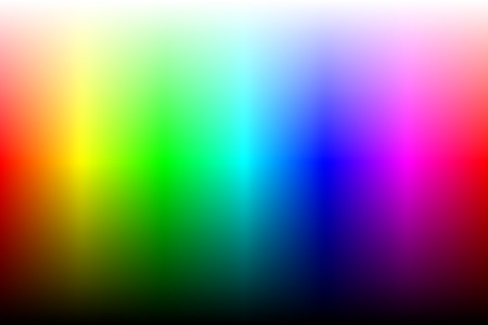 Color spectrum with brightness. Two variation, gradient or gradient mesh. Vector Ilustração