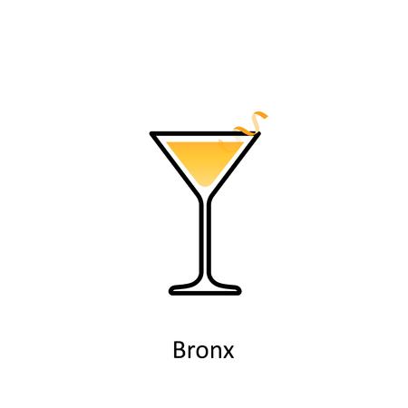 Bronx cocktail icon vector. Illustration