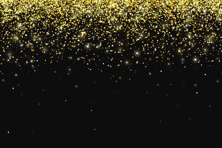 Ilustración de Vector de partículas de brillo dorado