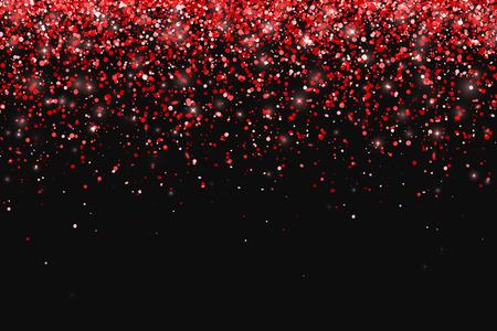 黒の背景に赤のキラキラ