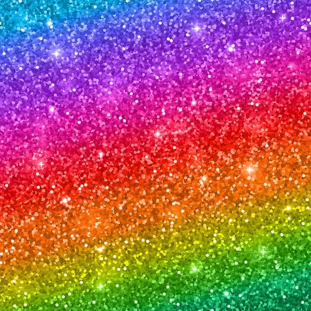 色とりどりのキラキラ背景、虹グラデーション ベクトル図  イラスト・ベクター素材