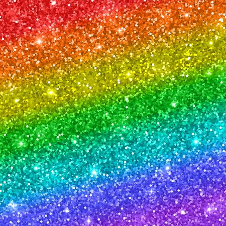 Rainbow glitter background. Vector Vectores