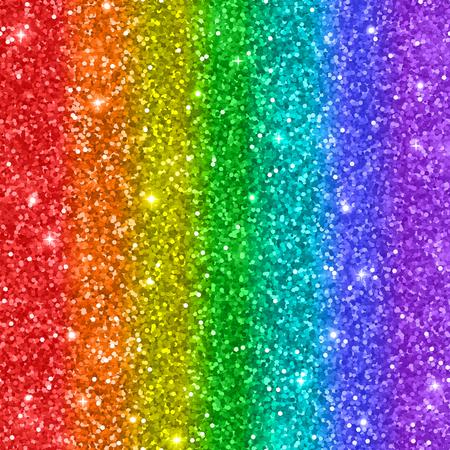 Mehrfarbiger Regenbogen-Funkelnhintergrund. Vektor-Illustration. Standard-Bild - 91130399