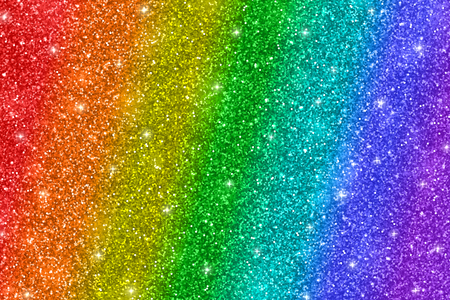 Rainbow glitter background Фото со стока