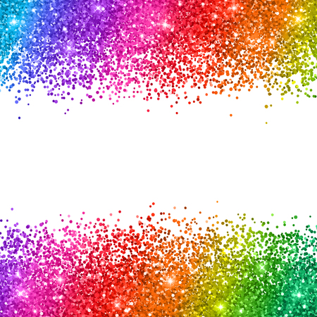 Multicolored glitter on white background. Vector illustration  イラスト・ベクター素材