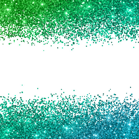 Glitter background with green blue color effect. Vector illustration
