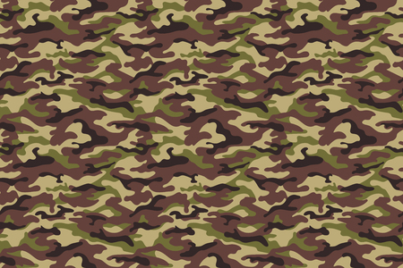 Army camouflage seamless texture in green brown colors. Vector illustration Illustration