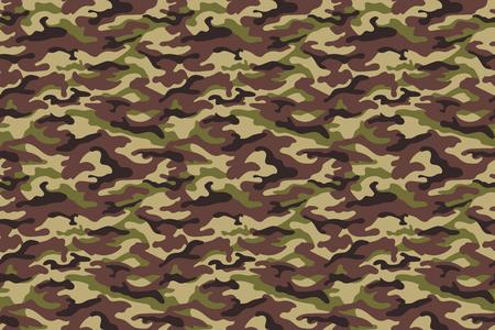 Armée camouflage texture transparente dans les couleurs marron vert. Illustration vectorielle