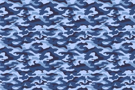 Tekstura kamuflażu wojskowego, kolory niebieski. Ilustracji wektorowych