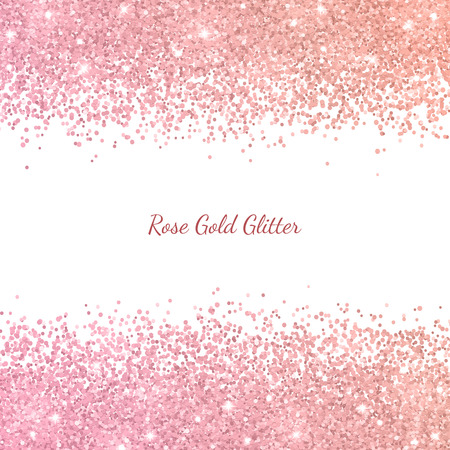 Rose gold glitter with color effect. Vector