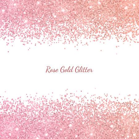 Brillo de oro rosa con efecto de color. Vector Foto de archivo - 97592460