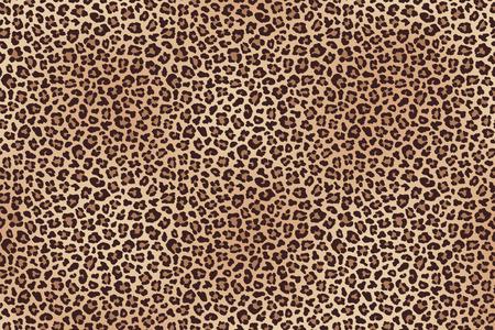 Leopard fur horizontal texture seamless pattern.