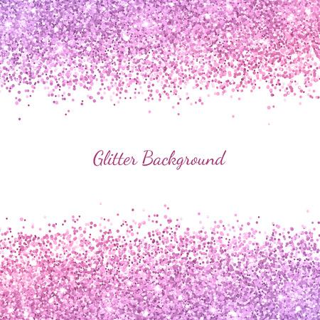Glitter background with pink violet color effect. Vector illustration Illustration