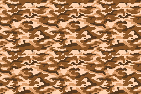 Military camouflage texture, beige brown color. Vector