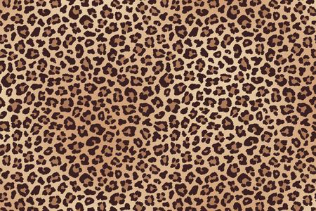 Trama di pelliccia maculata di leopardo. Vettore