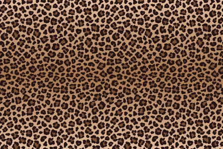 Dark brown leopard spotted fur texture. Vector Иллюстрация