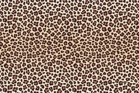 Leopard spots fur imitation, horizontal texture. Vector