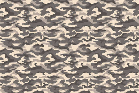 Camouflage texture brown desert seamless background. Vector