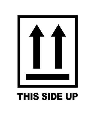 This side up symbol in frame. Vector Ilustração