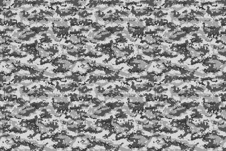 Gray digital military camouflage background. Vector illustration