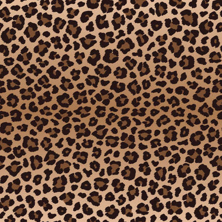 Dark brown leopard seamless pattern, vector illustration