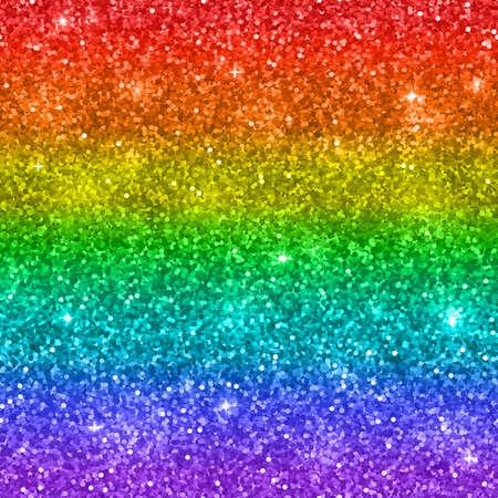 Multicolor rainbow glitter background. Vector