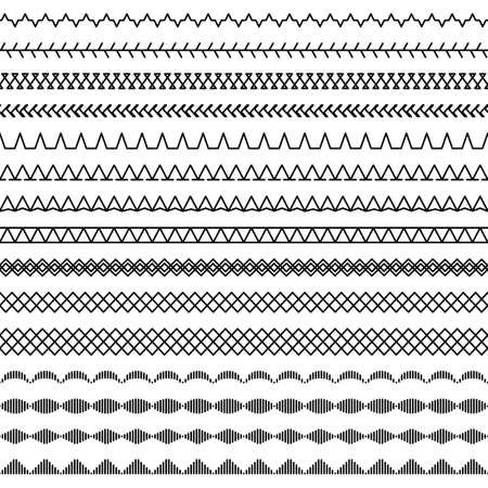 Sewing machine stitches seamless pattern, part 2