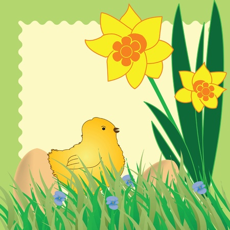 Spring greeting Vector