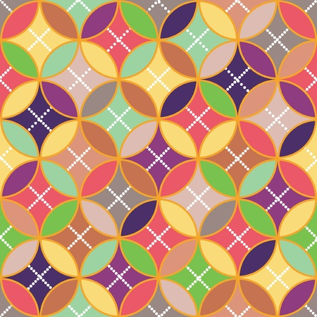 intersecting: Background - color circles intersecting  Illustration