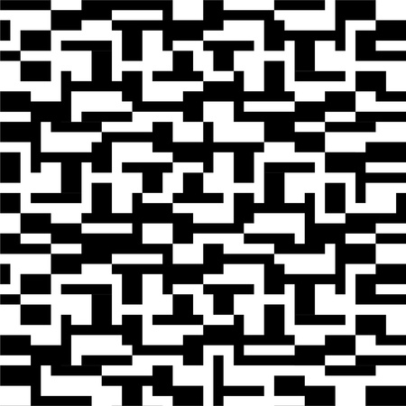 ethnic pattern: Abstract pattern in black and white Illustration
