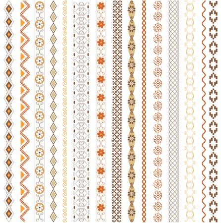 Vaus motifs colored Stock Vector - 13000059