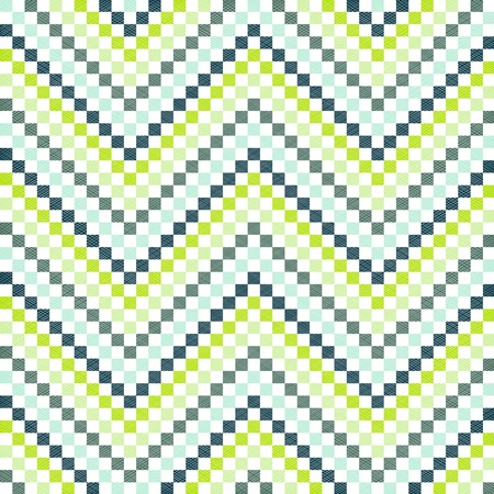 Zigzag pattern in green color Illustration