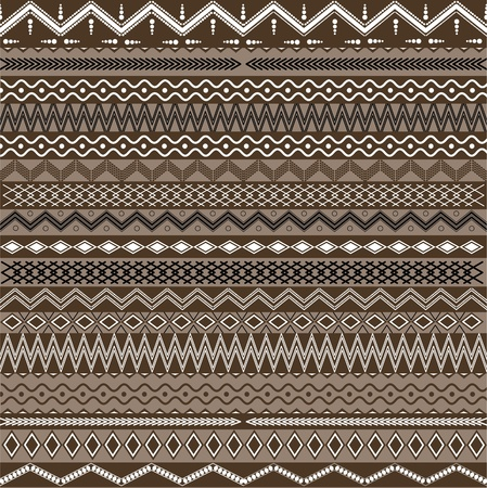Texture with geometrical ornaments Vector
