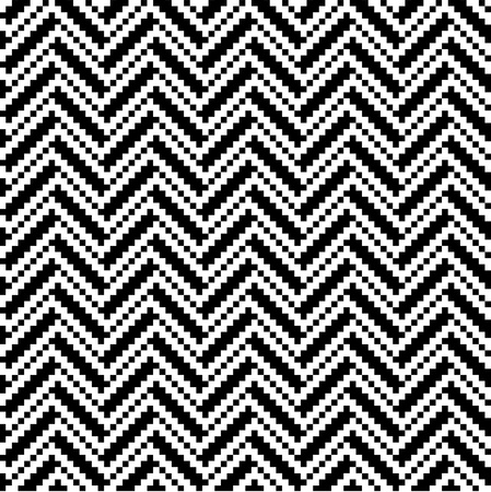 Zigzag pattern in black and white Vector