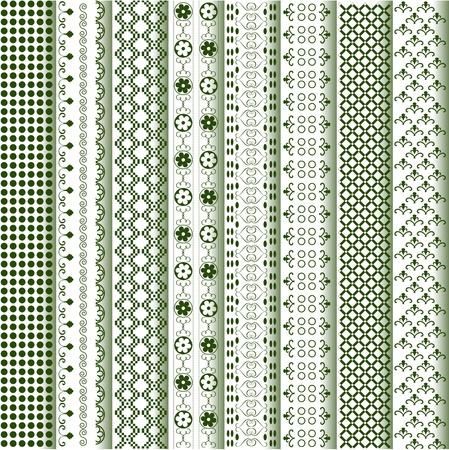 fronteiras: Motifs colored - patterns various Ilustra��o