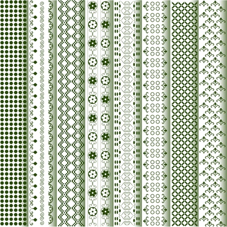 Motifs colored - patterns various Illustration