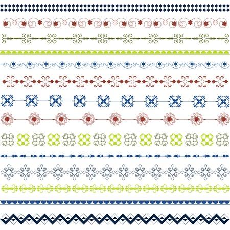scroll border: Different ornaments colored