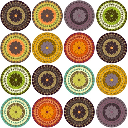 Samples of ornaments Vector