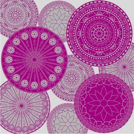 Pattern - colored ornaments Vector