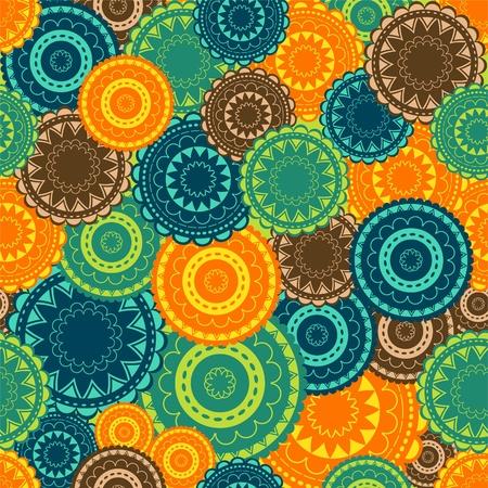 Arrière-plan avec ornements orientaux colorés eps