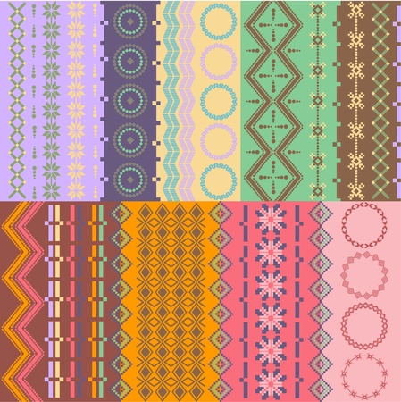 Colorful seamless backgrounds eps Vector