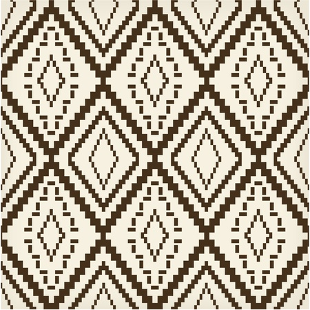 ottoman fabric: Ethnic brown old texture Illustration