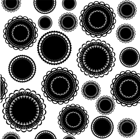 Ornamental background - black and white Vector