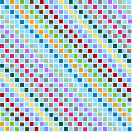disorderly: Pattern disorderly squares multicolored